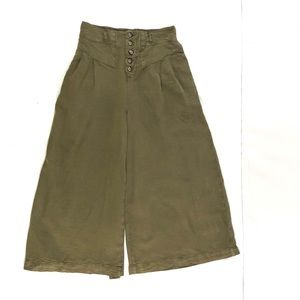 Anthropologie High Rise Wide Leg Culottes Pants XS